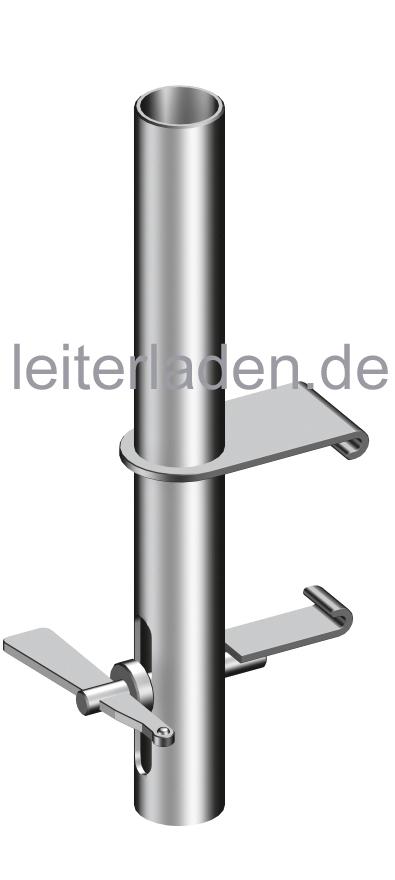 Unterschiedlich Geländer Befestigung für Doppelgeländer Alu Steg 600, Typ 1300.000 CB16